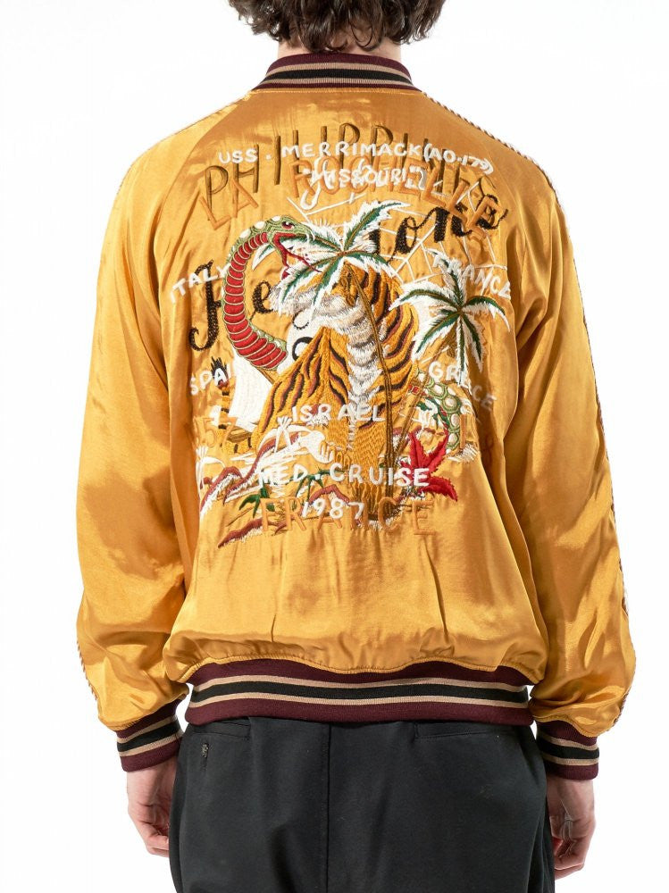 Free Hand Embroidered Souvenir Jacket (17SS02BL33 YELLOW) - H. Lorenzo