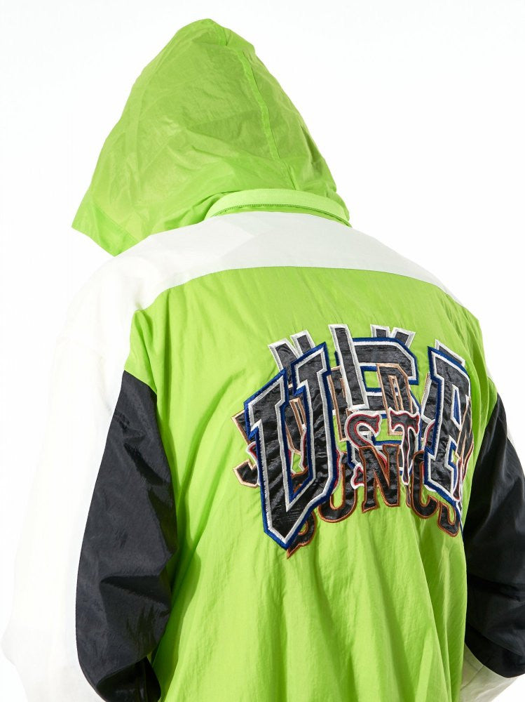 Embroidered Colorblock Windbreaker (17SS06BL36 Y.GREEN) - H. Lorenzo