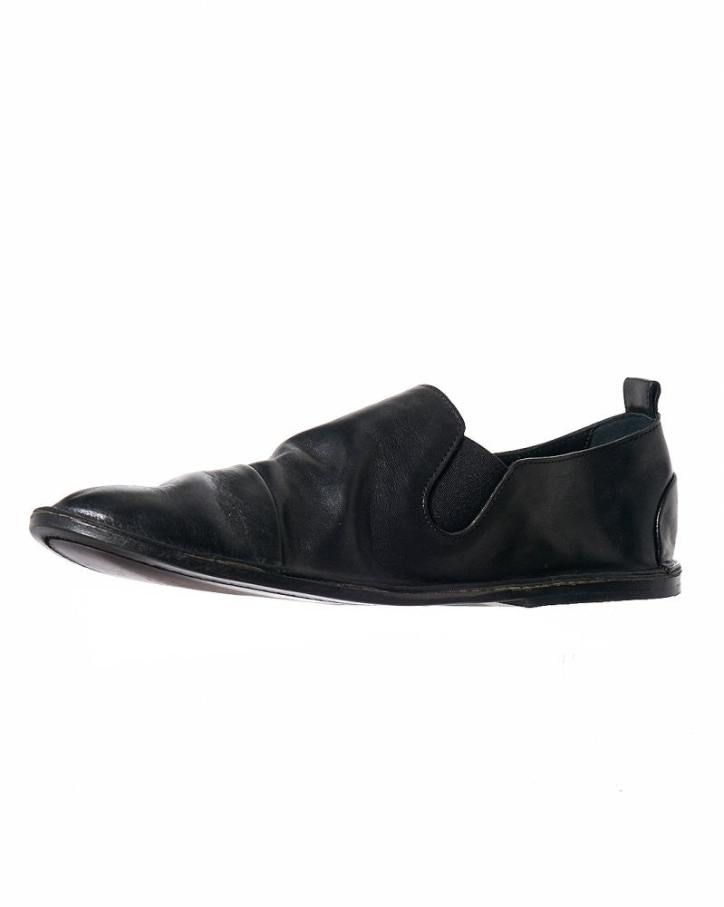 Leather Slip-On (MM1450 NERO) - H. Lorenzo
