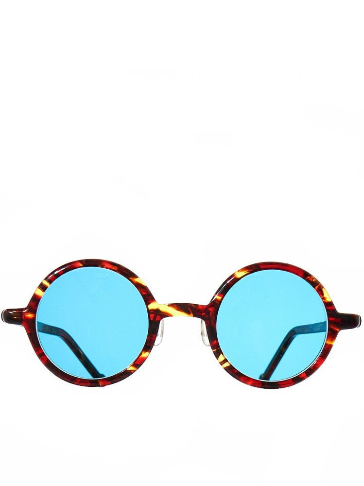 Round Ample Sunglasses (ROUND AMPLE RED AMBER BLGRN4)