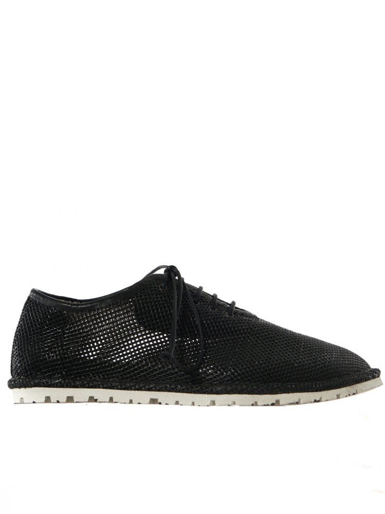 Perforated Leather Lace Up (MMG039 BLACK)