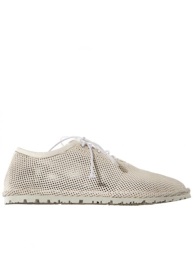Perforated Leather Lace-Up (MMG039 WHITE)