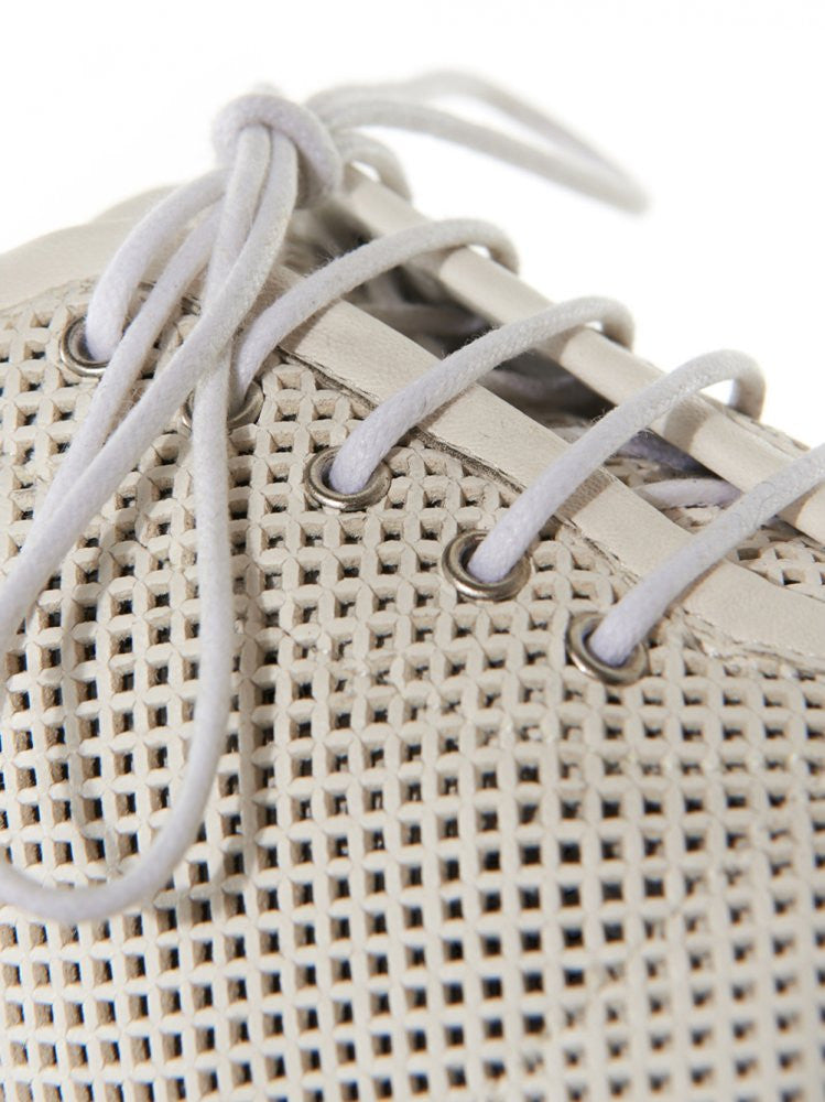 Perforated Leather Lace-Up (MMG039 WHITE) - H. Lorenzo