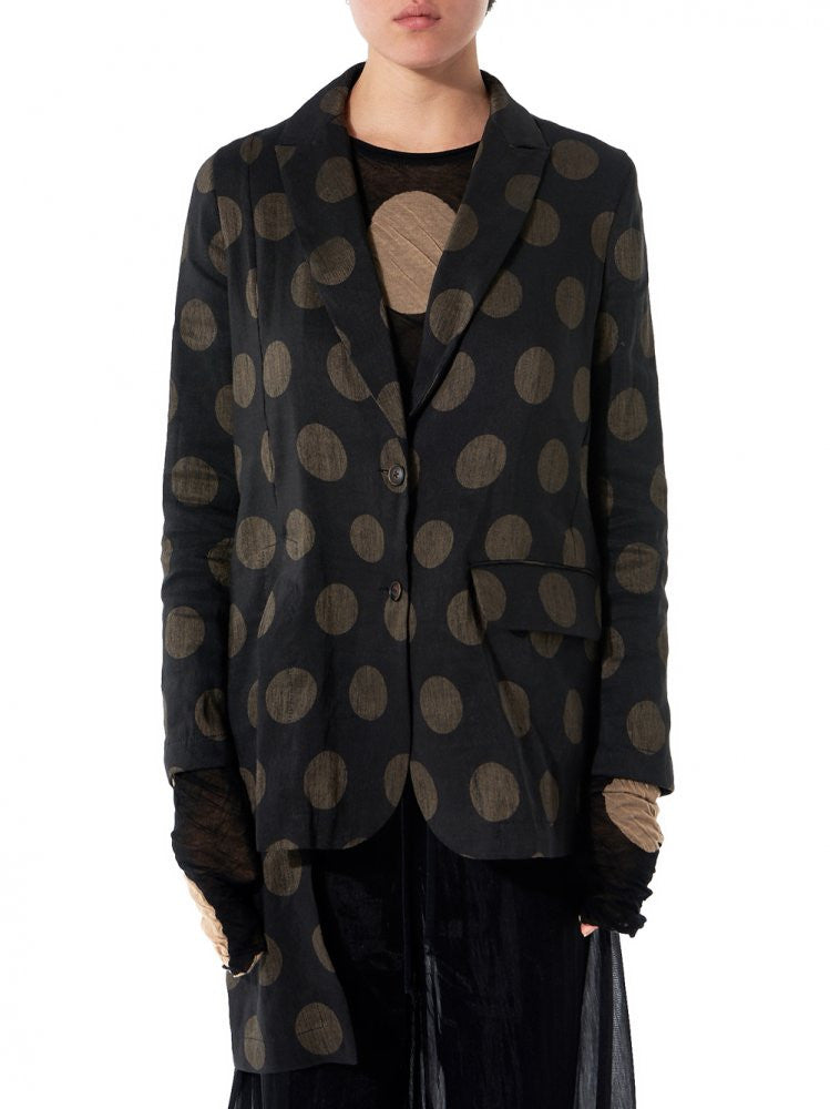 Polka Dot Blazer (P7M UP6002 BLACK-TAN) - H. Lorenzo