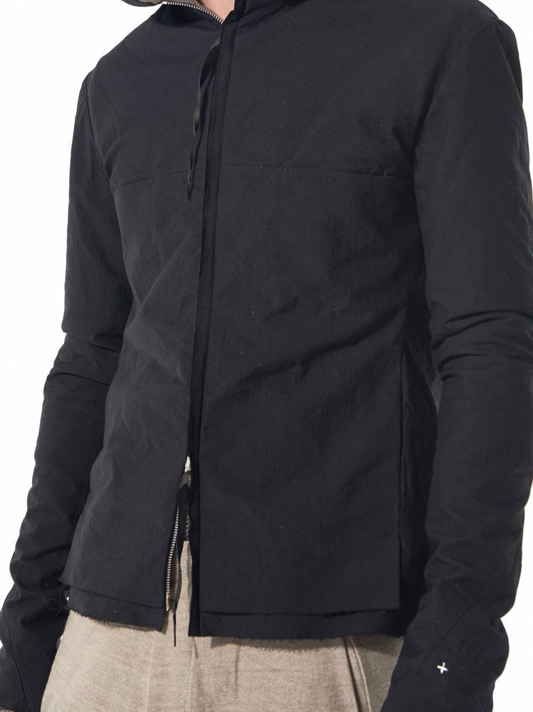 Hooded Aviator Jacket (J224HZ CM BLACK-COAL) - H. Lorenzo