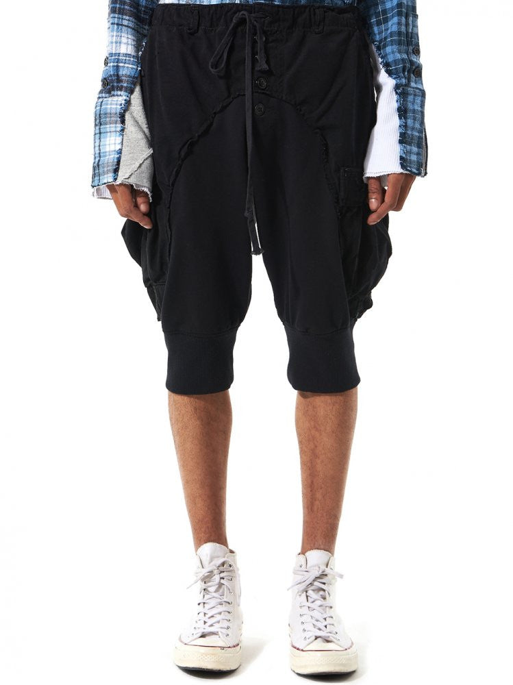 Fleece Lounge Shorts (GLSS17-M253B BLACK) - H. Lorenzo