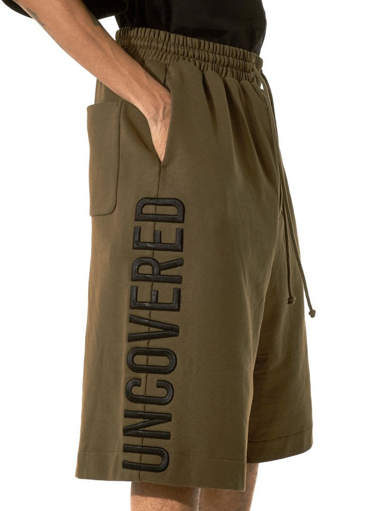 'Uncovered' Embroidered Graphic Shorts (JC7325P13H KHAKI) - H. Lorenzo