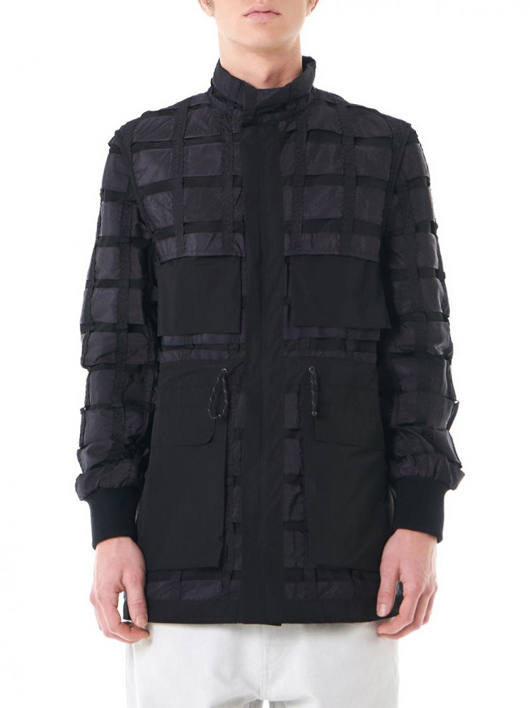 Double-Layer Windbreaker (MOT1077 BLACK) - H. Lorenzo