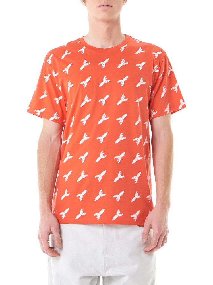 "Graphic ""Rocket"" Tee (MTP5063 ORANGE) - H. Lorenzo"