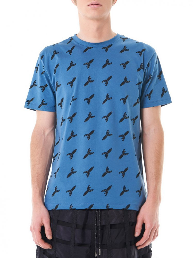 "Graphic ""Rocket"" Tee (MTP5063 BLUE) - H. Lorenzo"