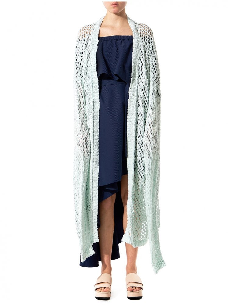 Oversized Loose-Knit Cardigan (012 PRE-SS17 MINT) - H. Lorenzo