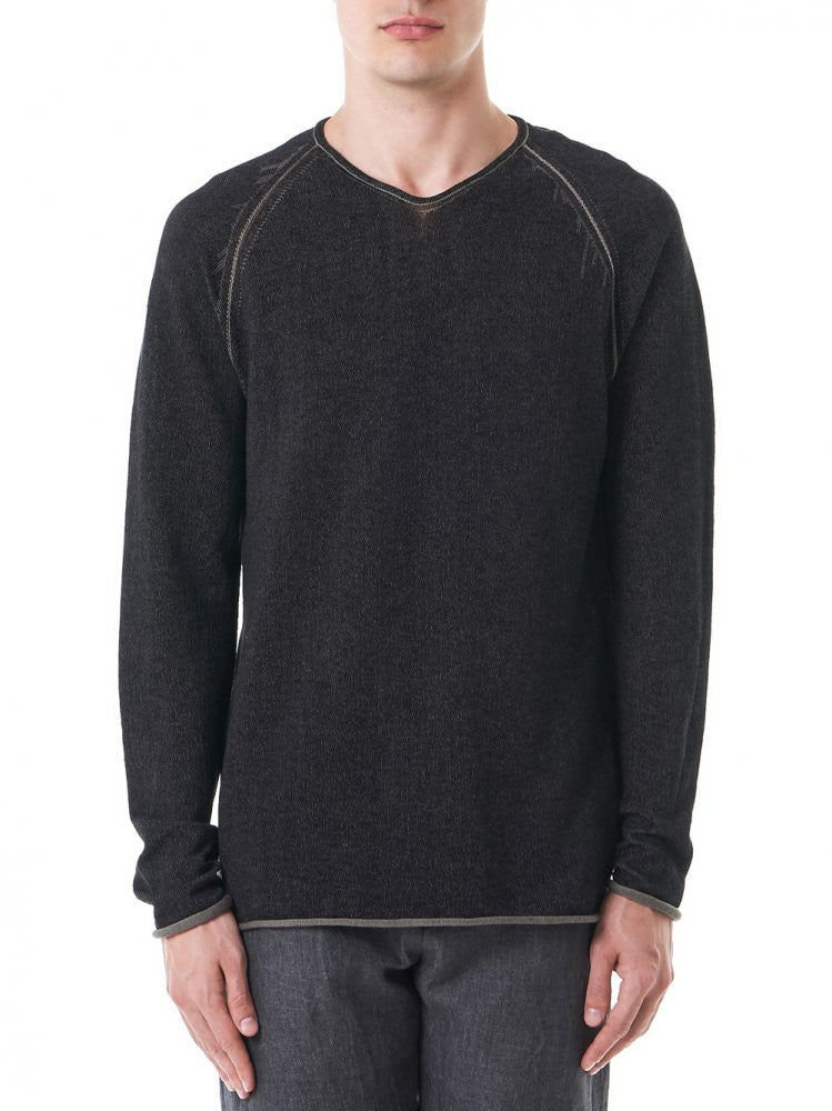 Reversible 'Seismograph' Pullover (29YMSW137 CL16 29-49-4) - H. Lorenzo