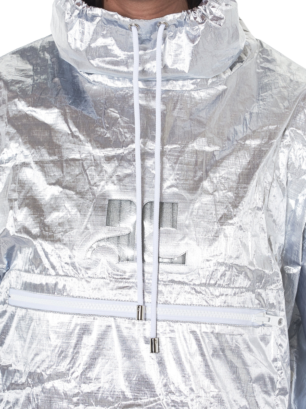 Crushed Nylon Windbreaker (118BL04873-ARG1-SILVER)