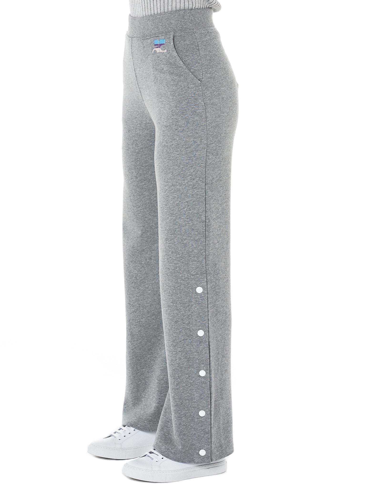 Press Stud Trouser (118JS17J003-932-GREY)