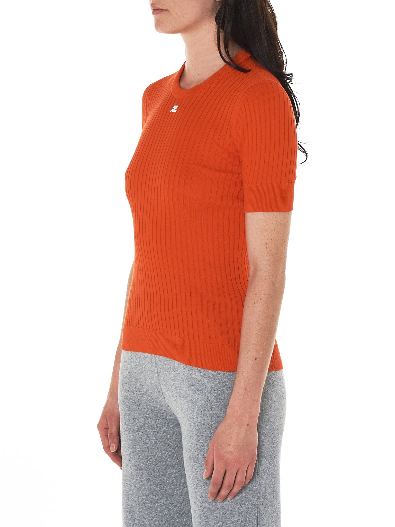 Signature Ribbed Pullover (118ML03M006-640-RED-AC)