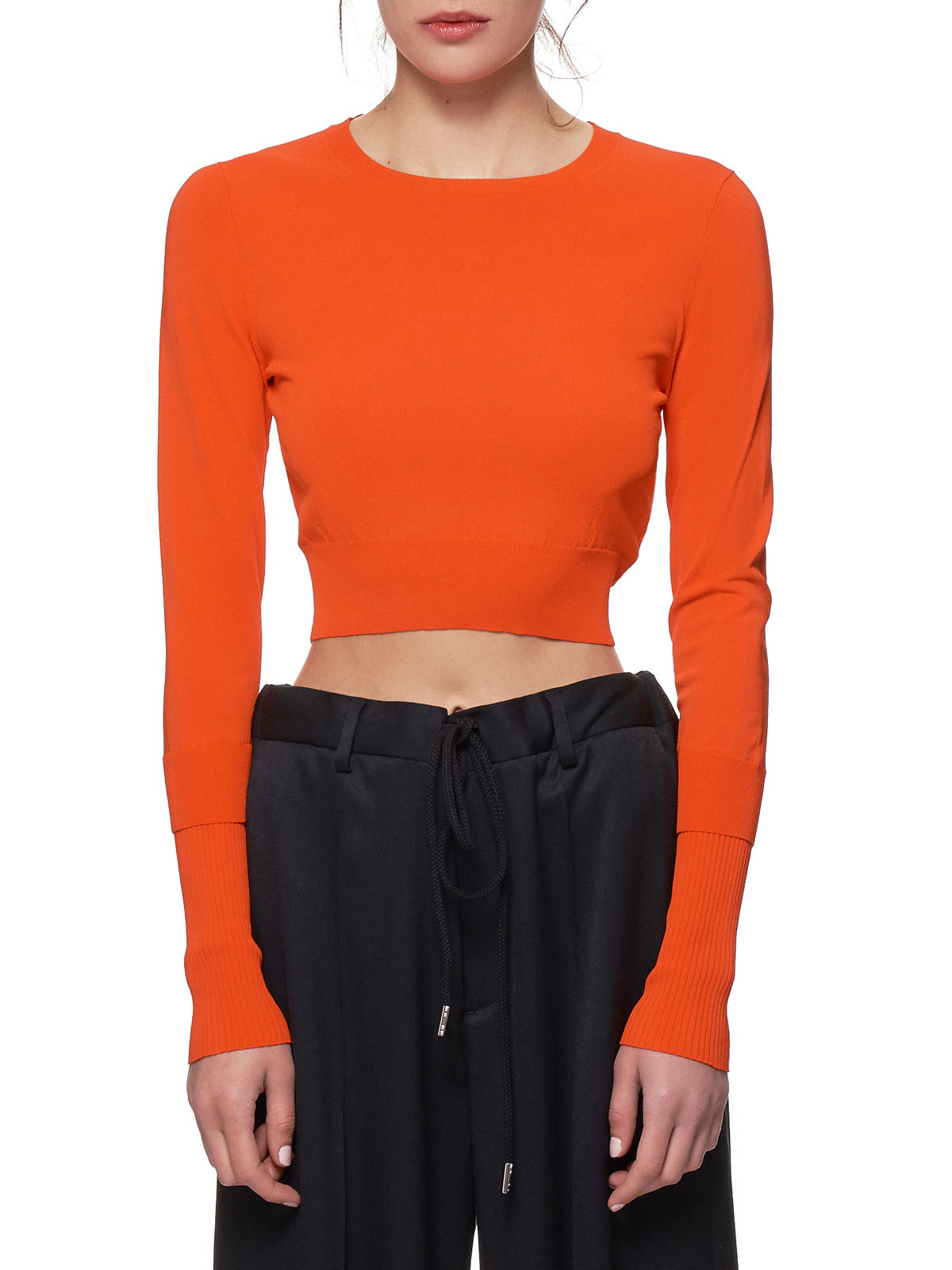Cropped Sweater (11CY8001-BLOOD-ORANGE)