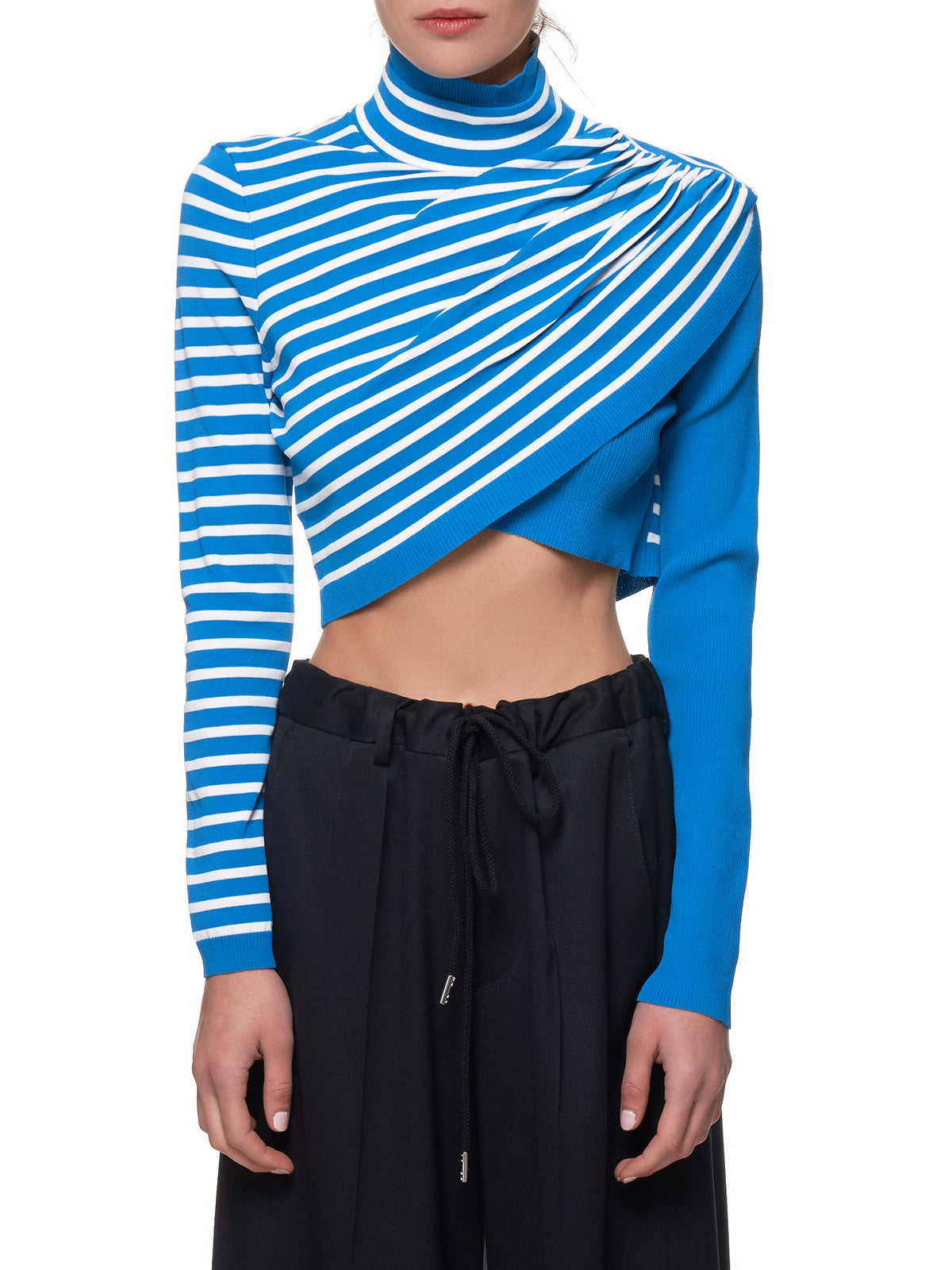 Cropped Turtleneck Sweater (11CY8005-BLUE-IRIS)
