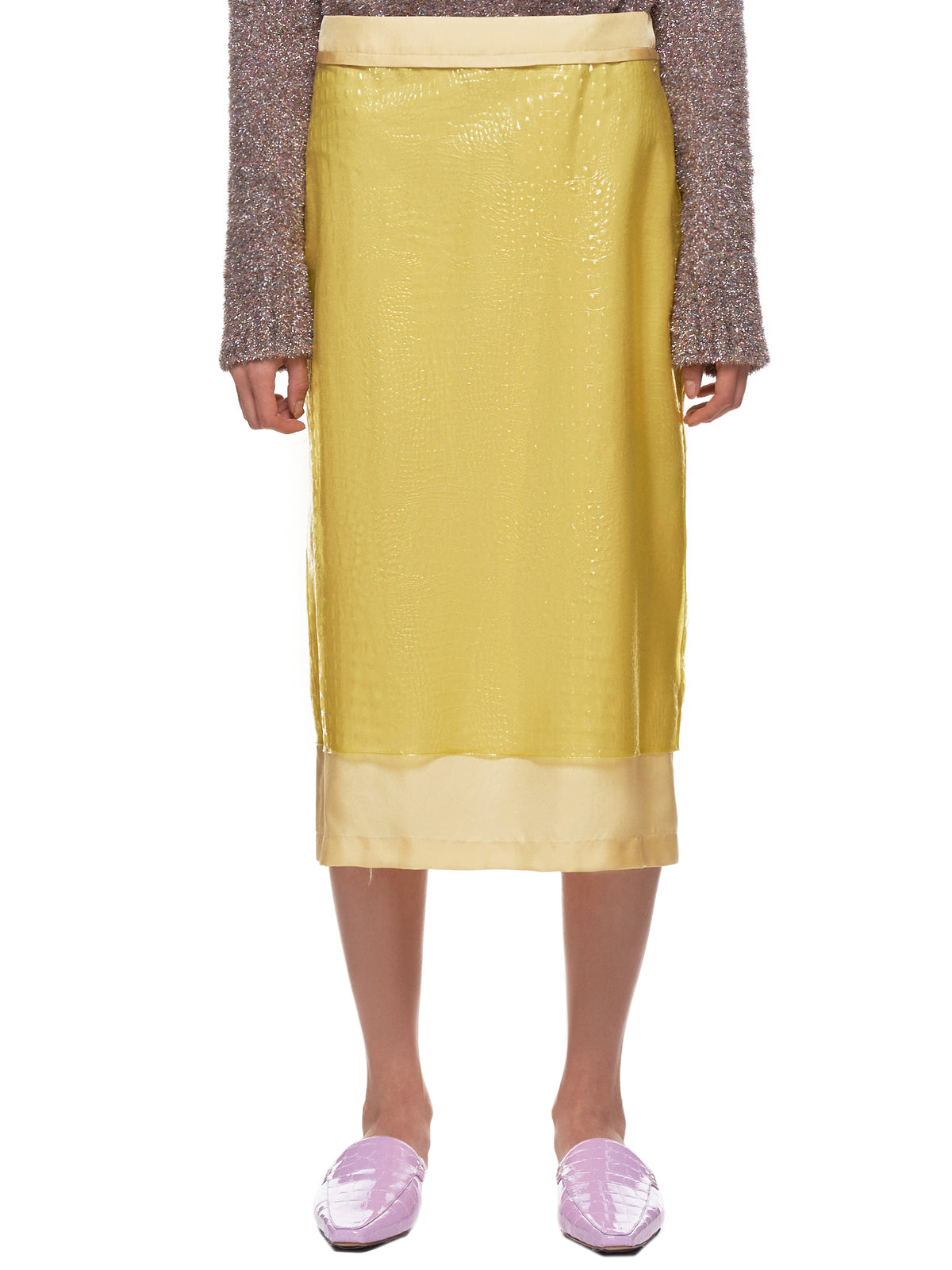 Embossed Skirt (11EP7048-LEMON)