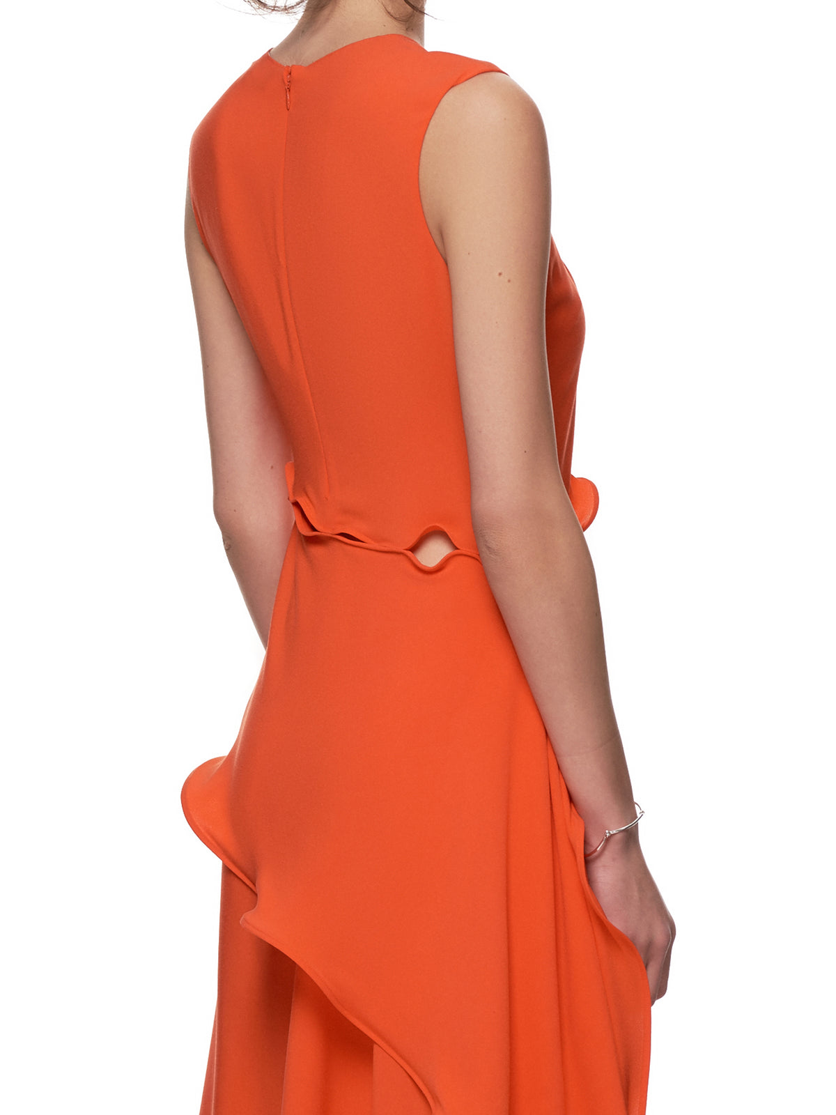 Asymmetrical Dress (11SP5142-BLOOD-ORANGE)