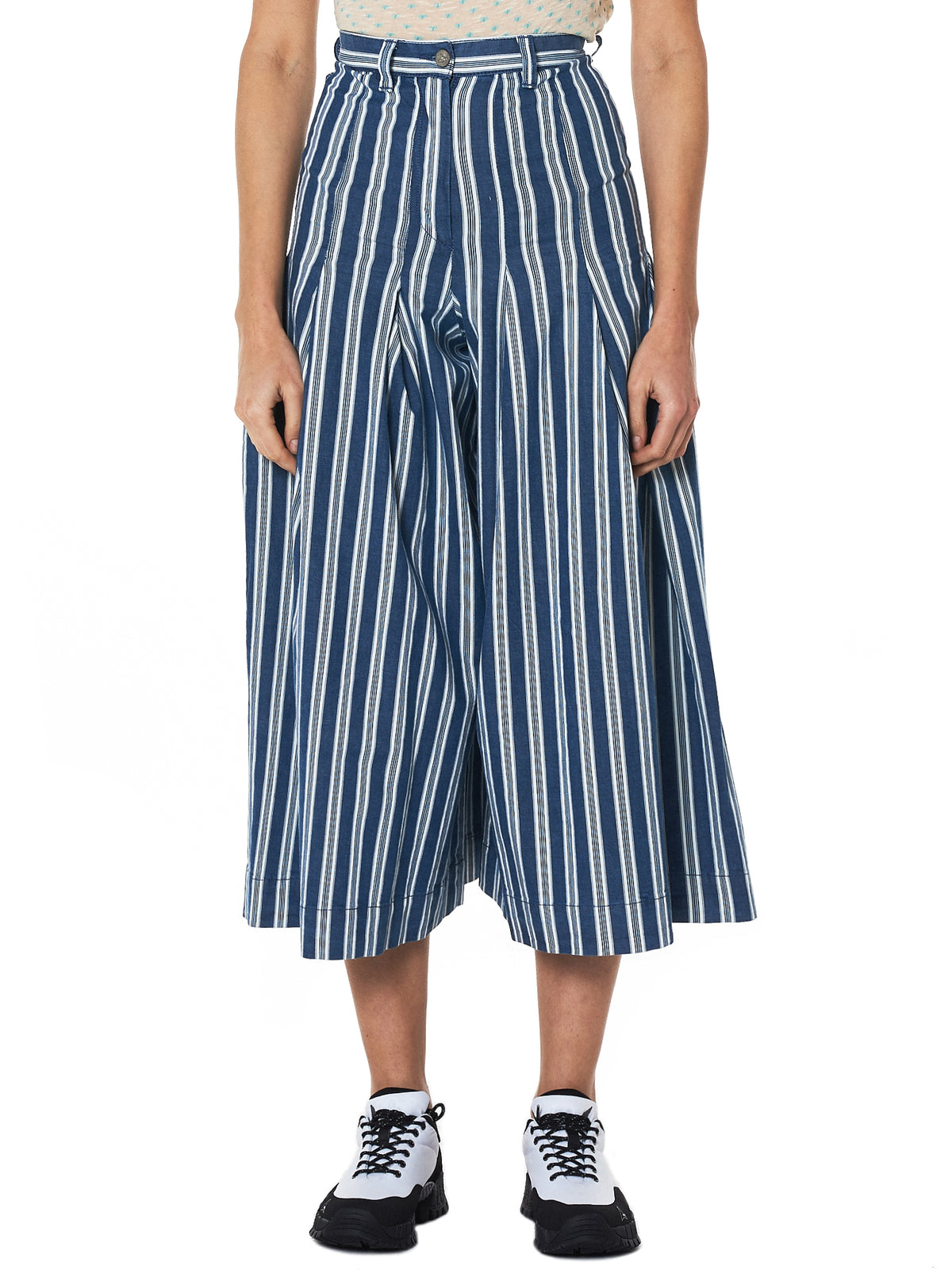 Pleated Culottes (12030008-10424-EU-K401)