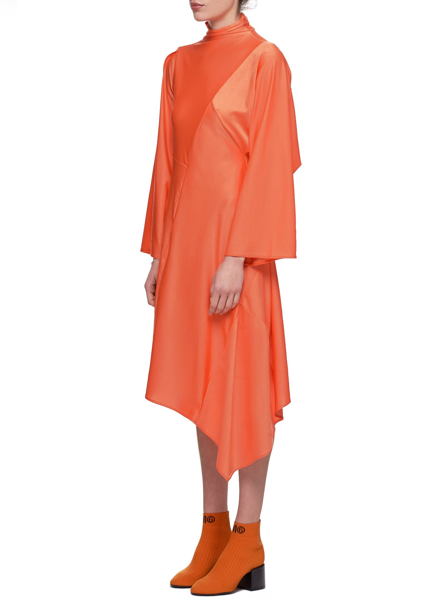 Drape Dress (12111651-Orange)