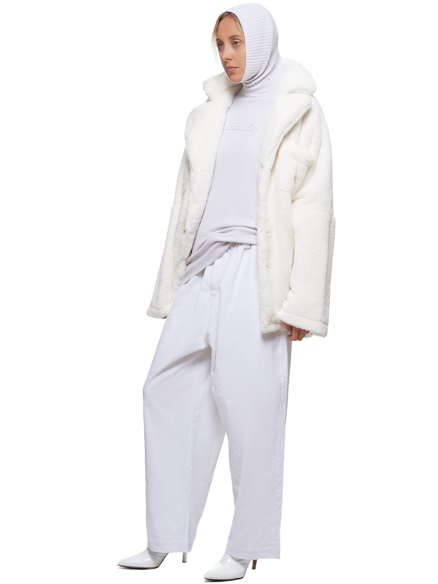 Line Stitched Trousers (W0057-WHITE)