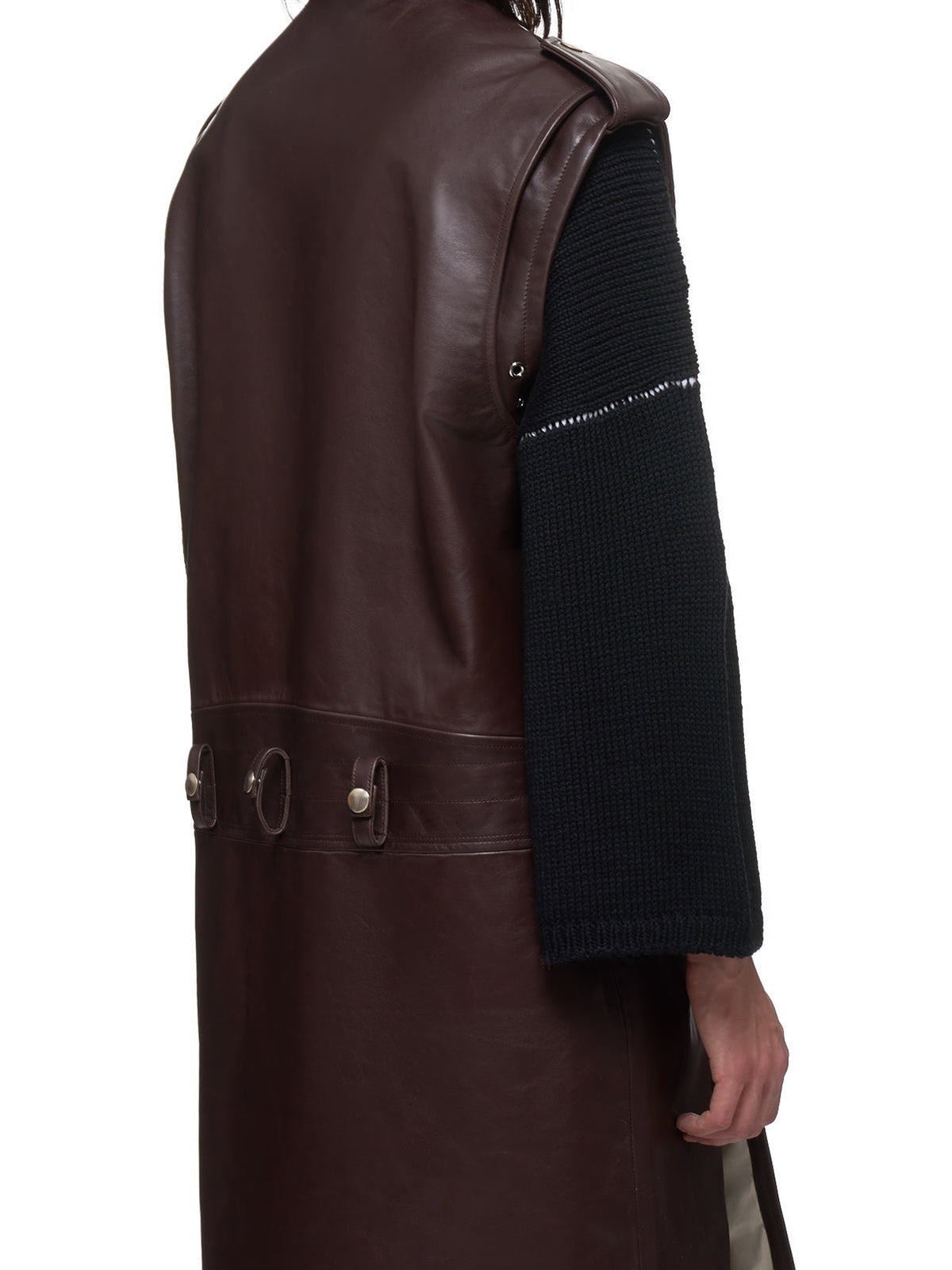 Raf Simons Leather Vest - Hlorenzo Detail 2