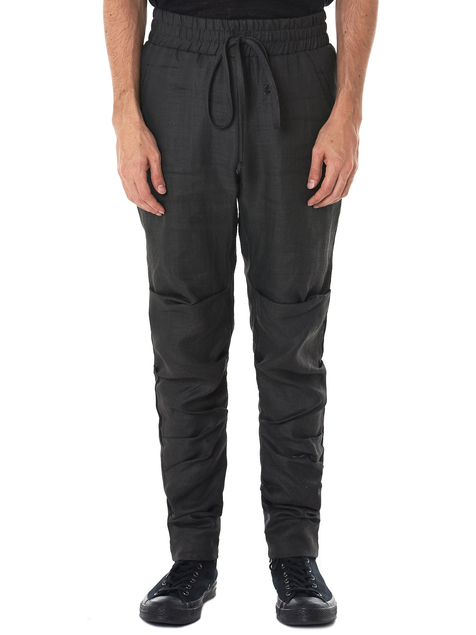 Tapered Drawstring Trousers (M22-724-675-WASHED-BLACK)
