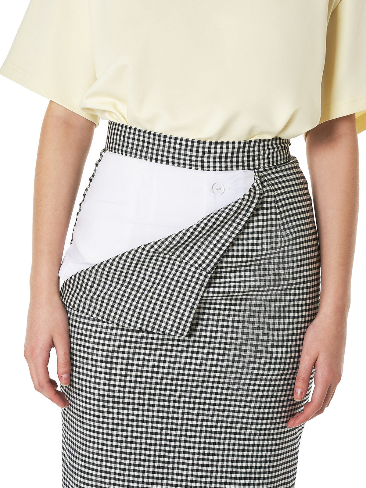 Gingham Peel-Away Skirt (12A-BLACK-WHITE)