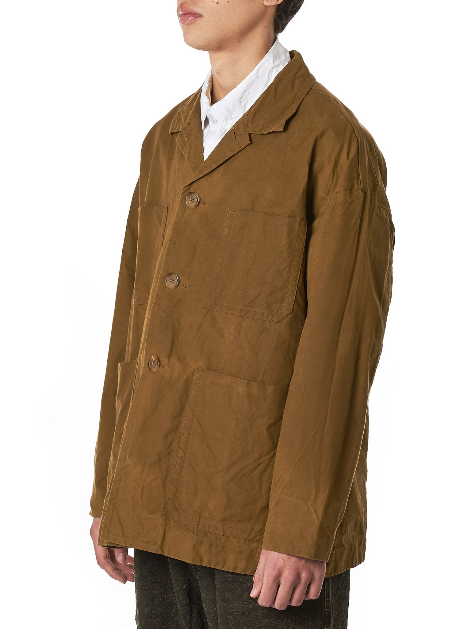Coated Canvas Jacket (12HV192-BROWN)