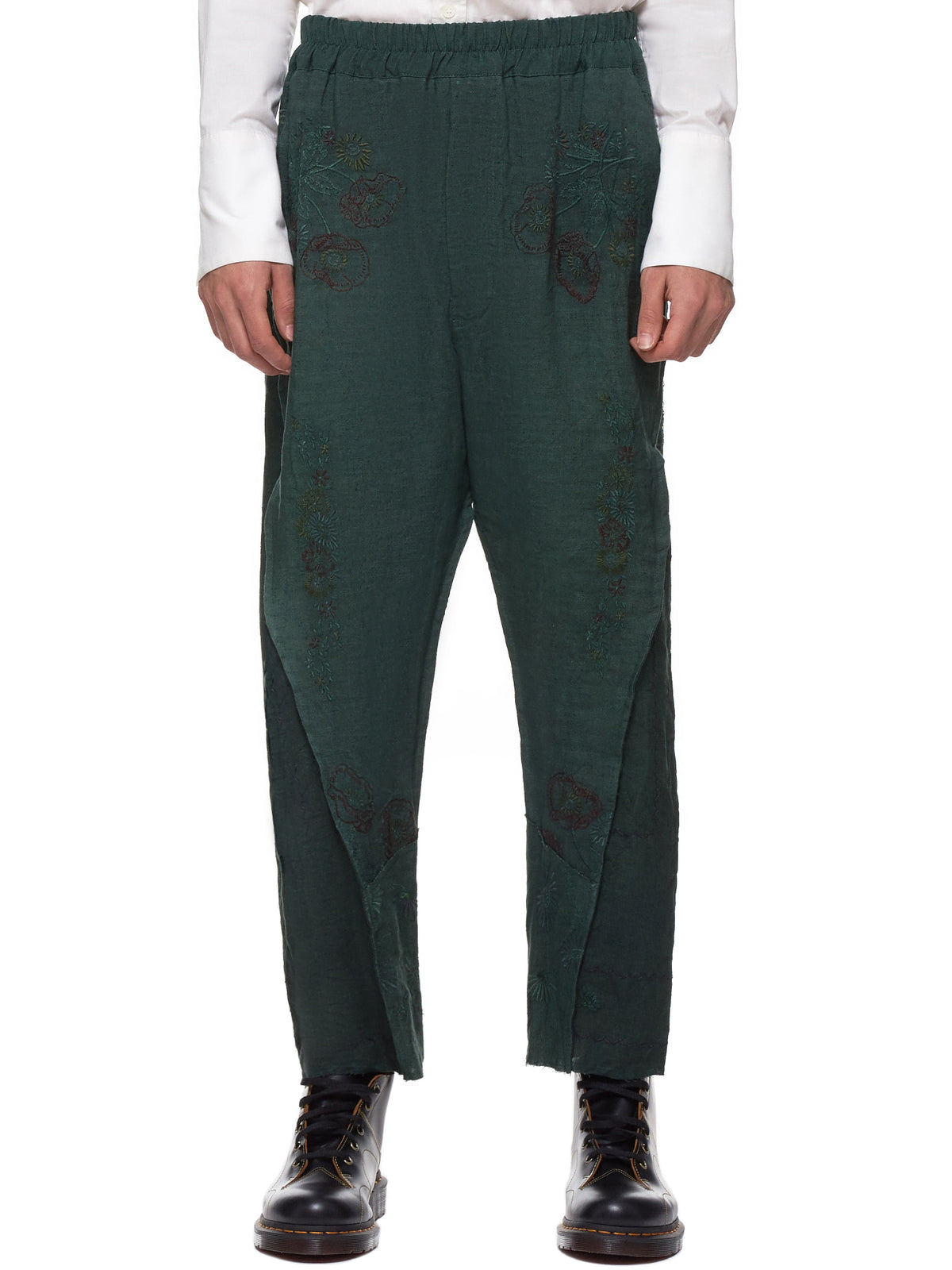Embroidered Trousers (130204M-HIRO-GREEN)