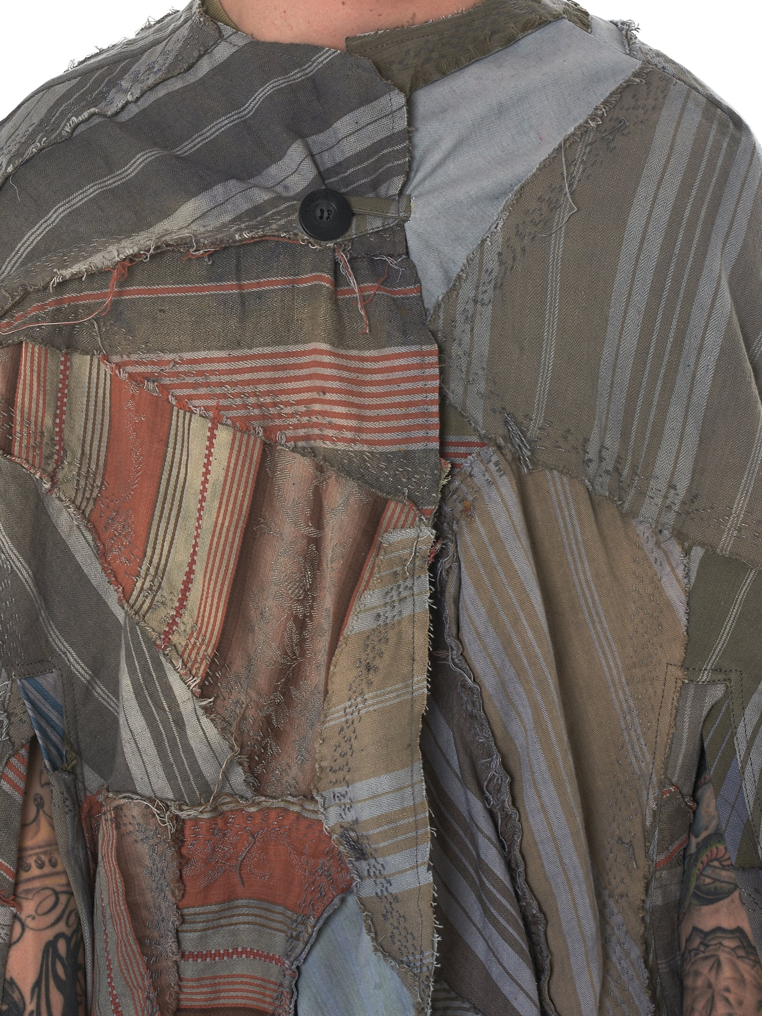 By Walid Striped Poncho - Hlorenzo Detail 1
