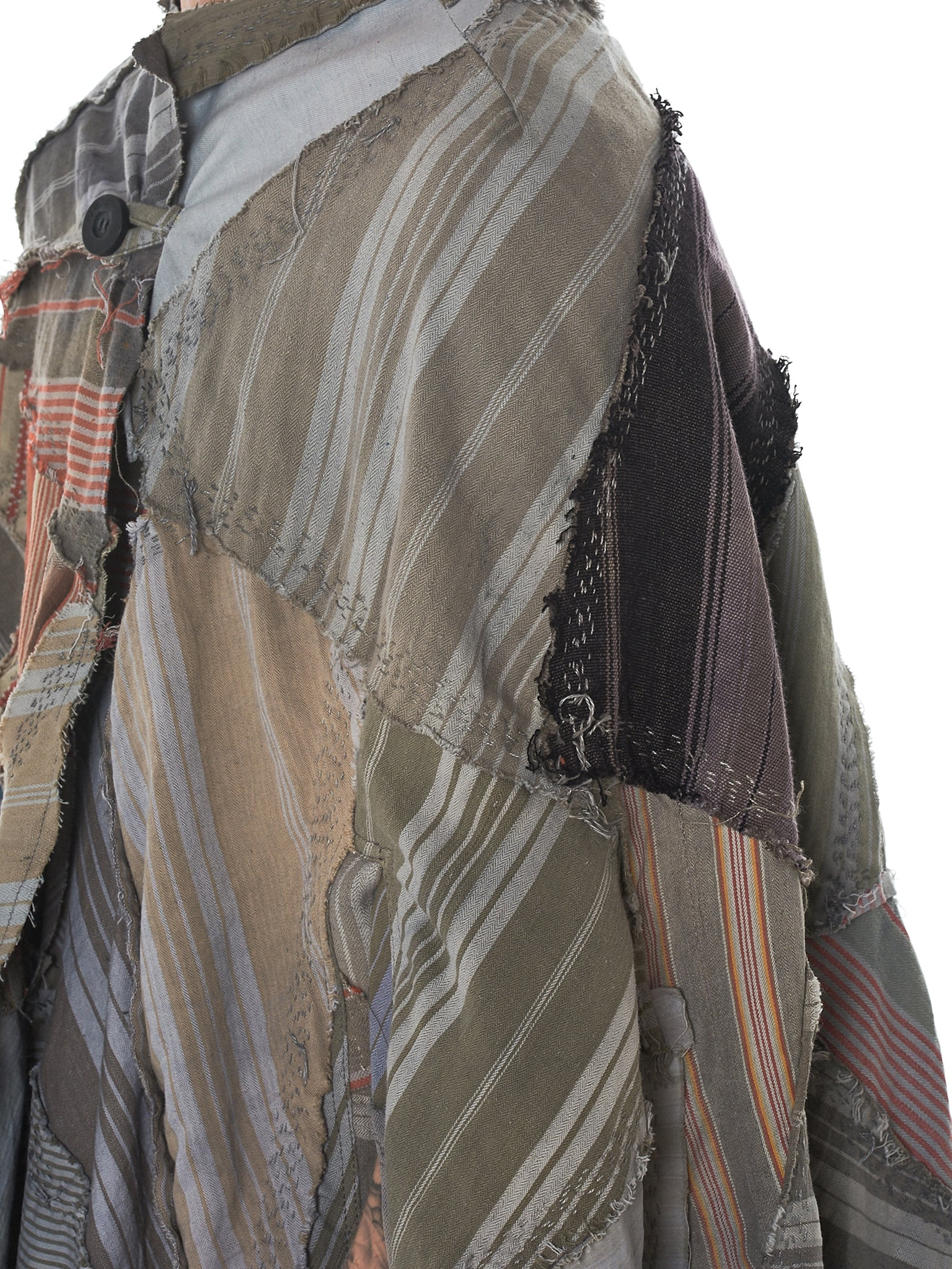 By Walid Striped Poncho - Hlorenzo Detail 4