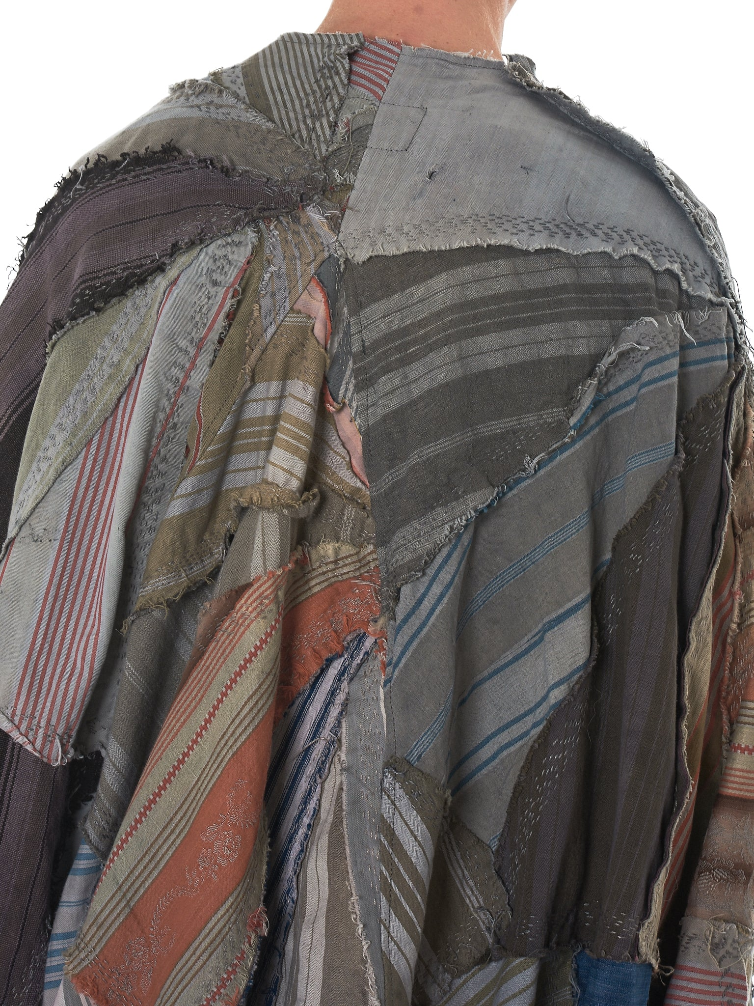 By Walid Striped Poncho - Hlorenzo Detail 5
