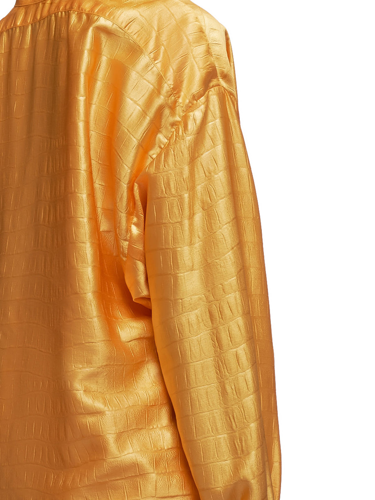 Satin Azra Embossed Tunic Shirt (16IA3108-APRICOT)