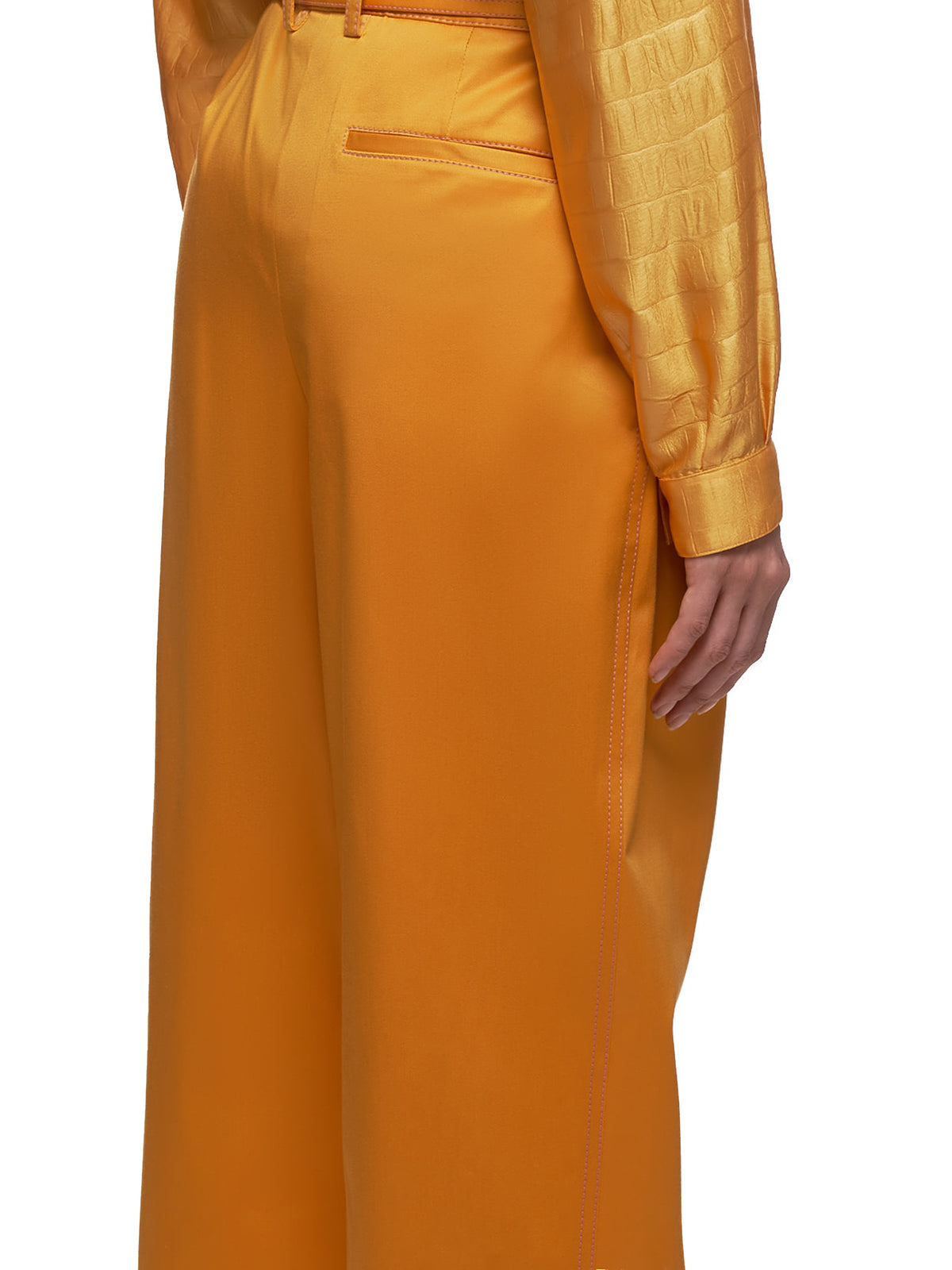 Blanche Front Pleated Trousers (16SZ6003-APRICOT)