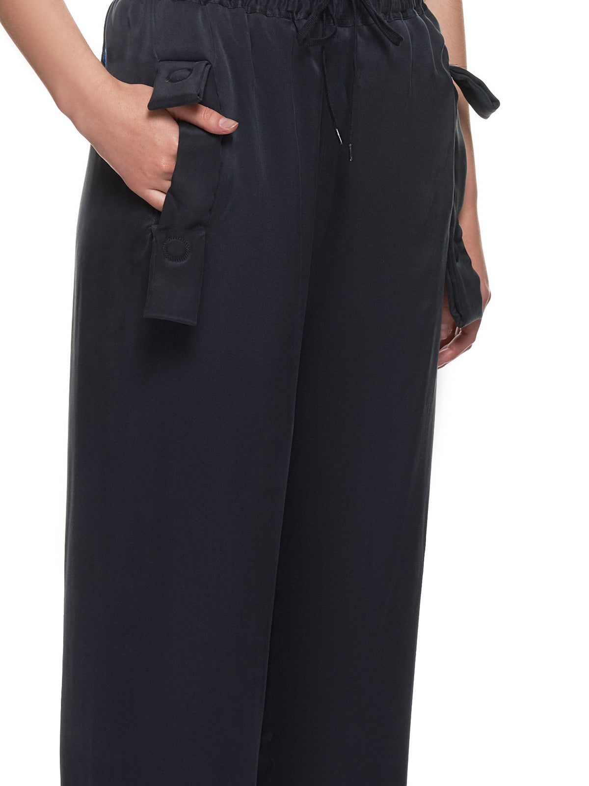 Washed Silk Trousers (17-BLACK)