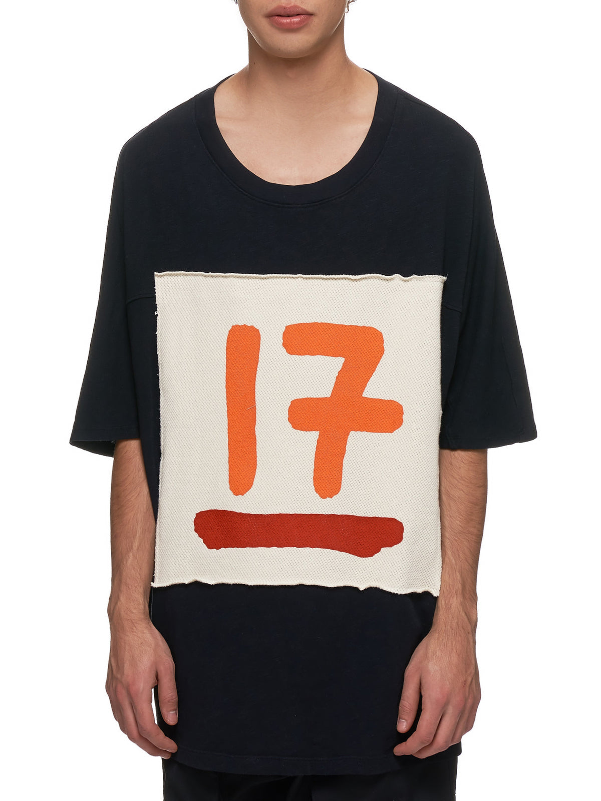 Patch Shirt (17-PATCH-SHIRT-BLK-ORANGE)