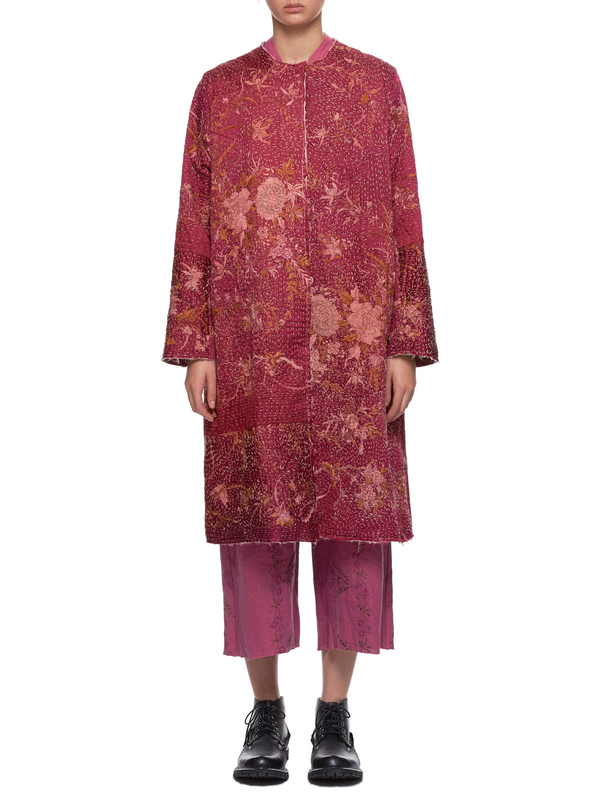 Chinese Panel Tanita Coat (170011-TANITA-DARK-PINK)
