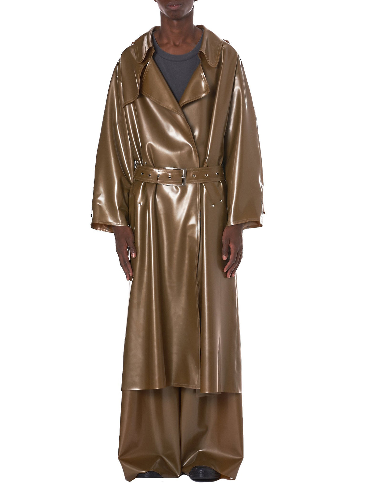 Latex Trench Coat (17012-GOLD)