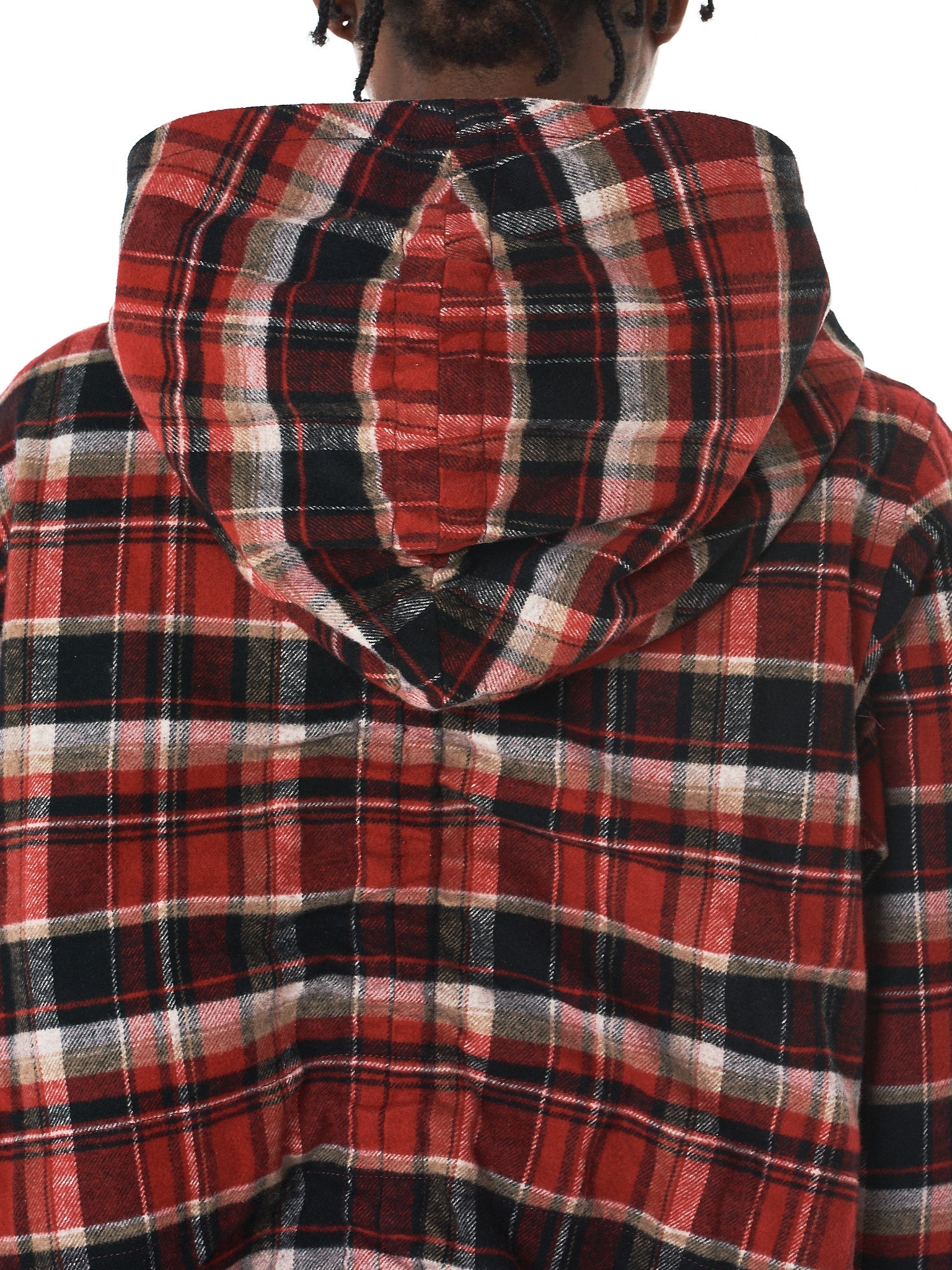 Hooded Flannel Coat (1702SK14-RED)