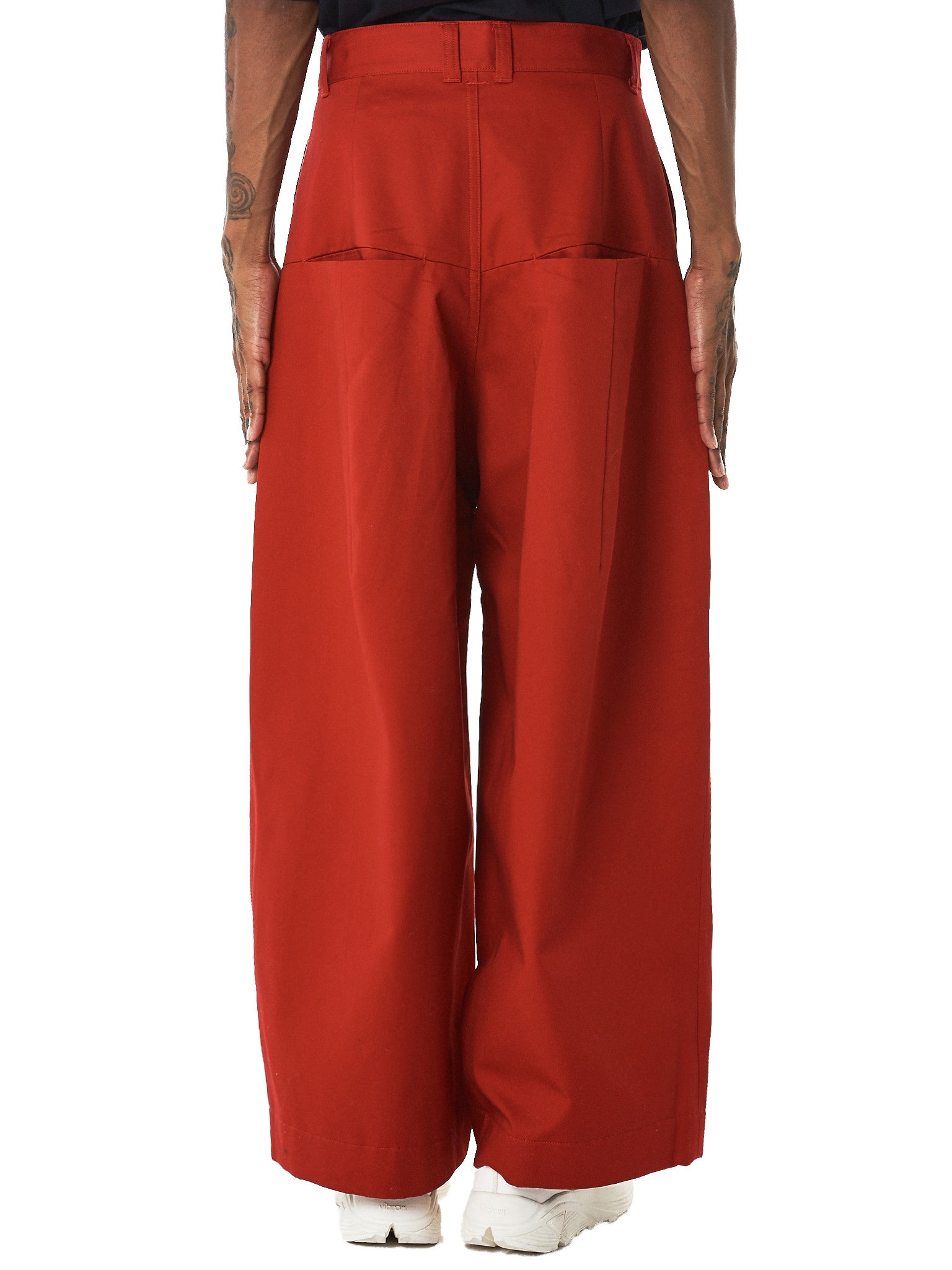 Knife-Pleated Cropped Pants (1702SK31-RUST)