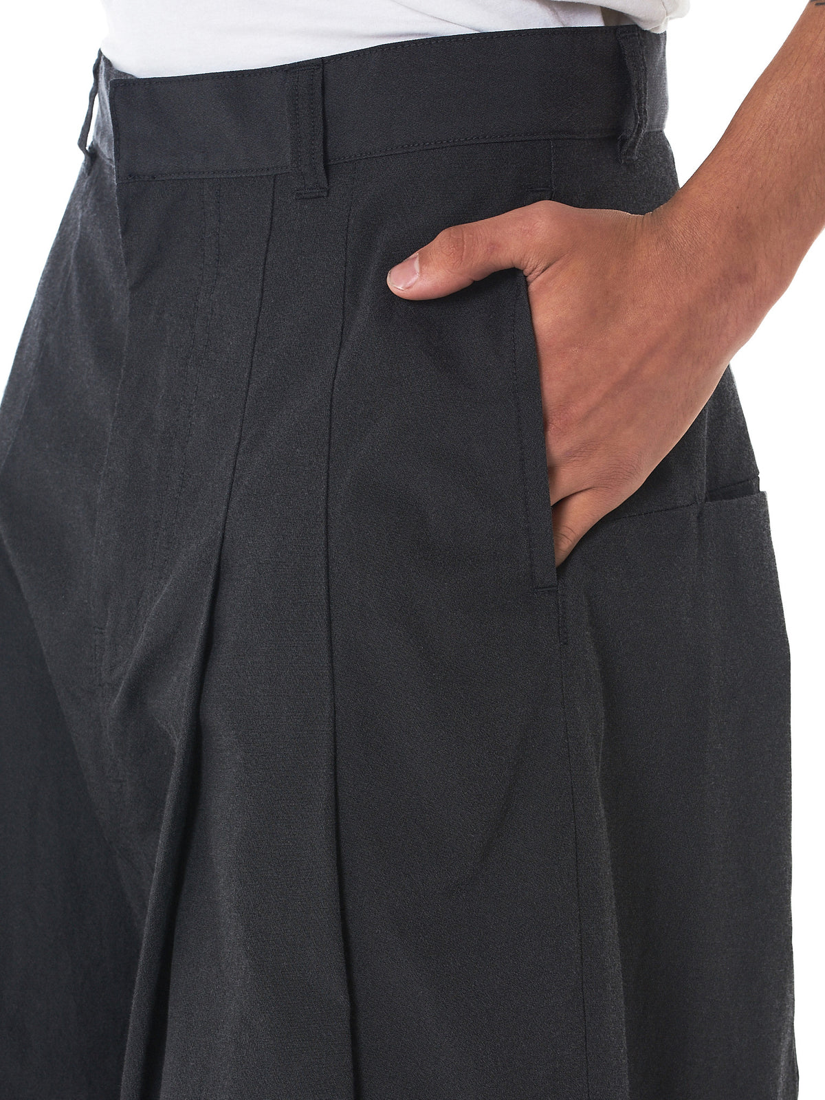 Knife-Pleated Cropped Pants (1702SK32-DUST)