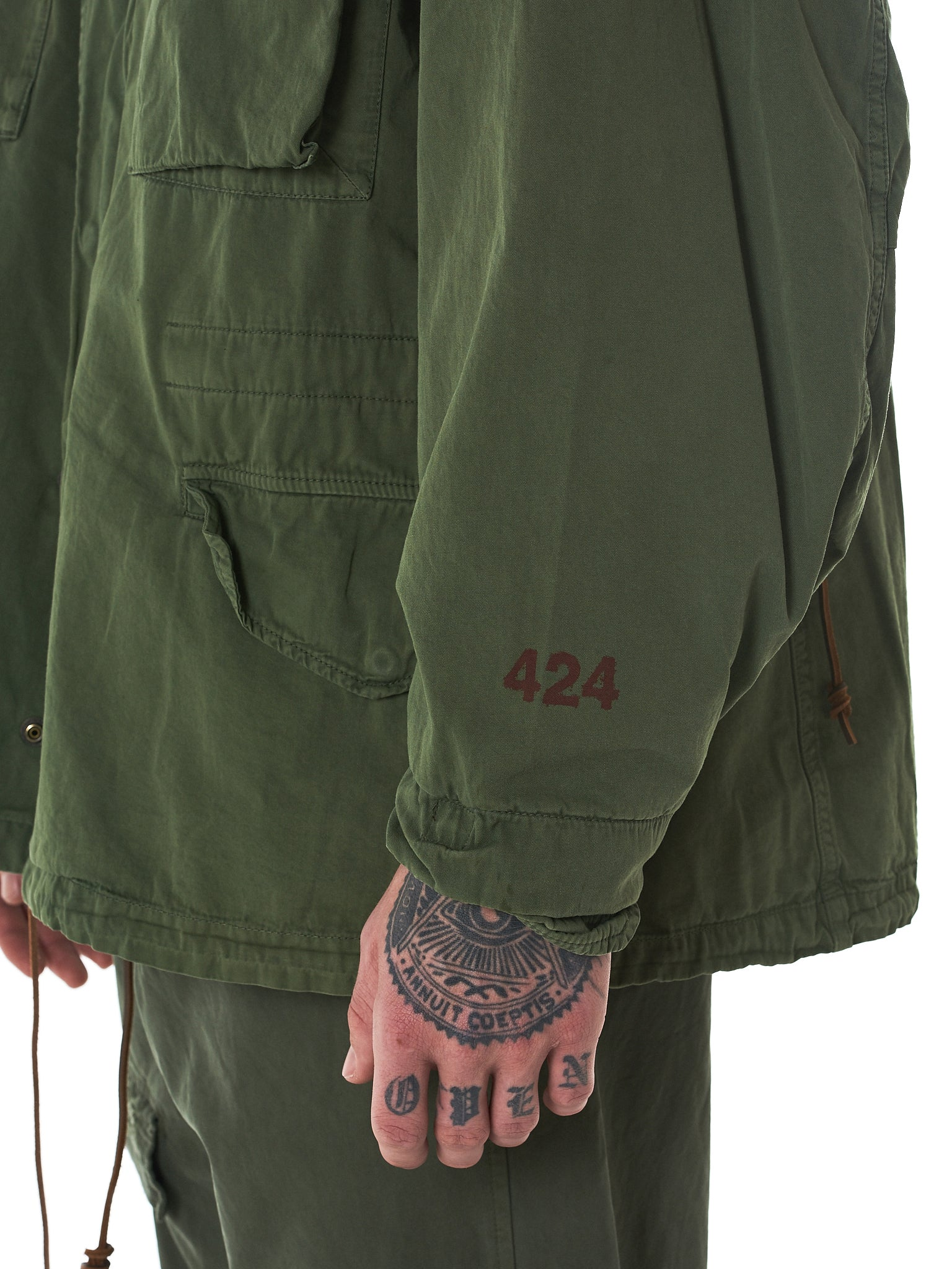 424 x Alpha Industries x Slam Jam-HLorenzo sleeve detail
