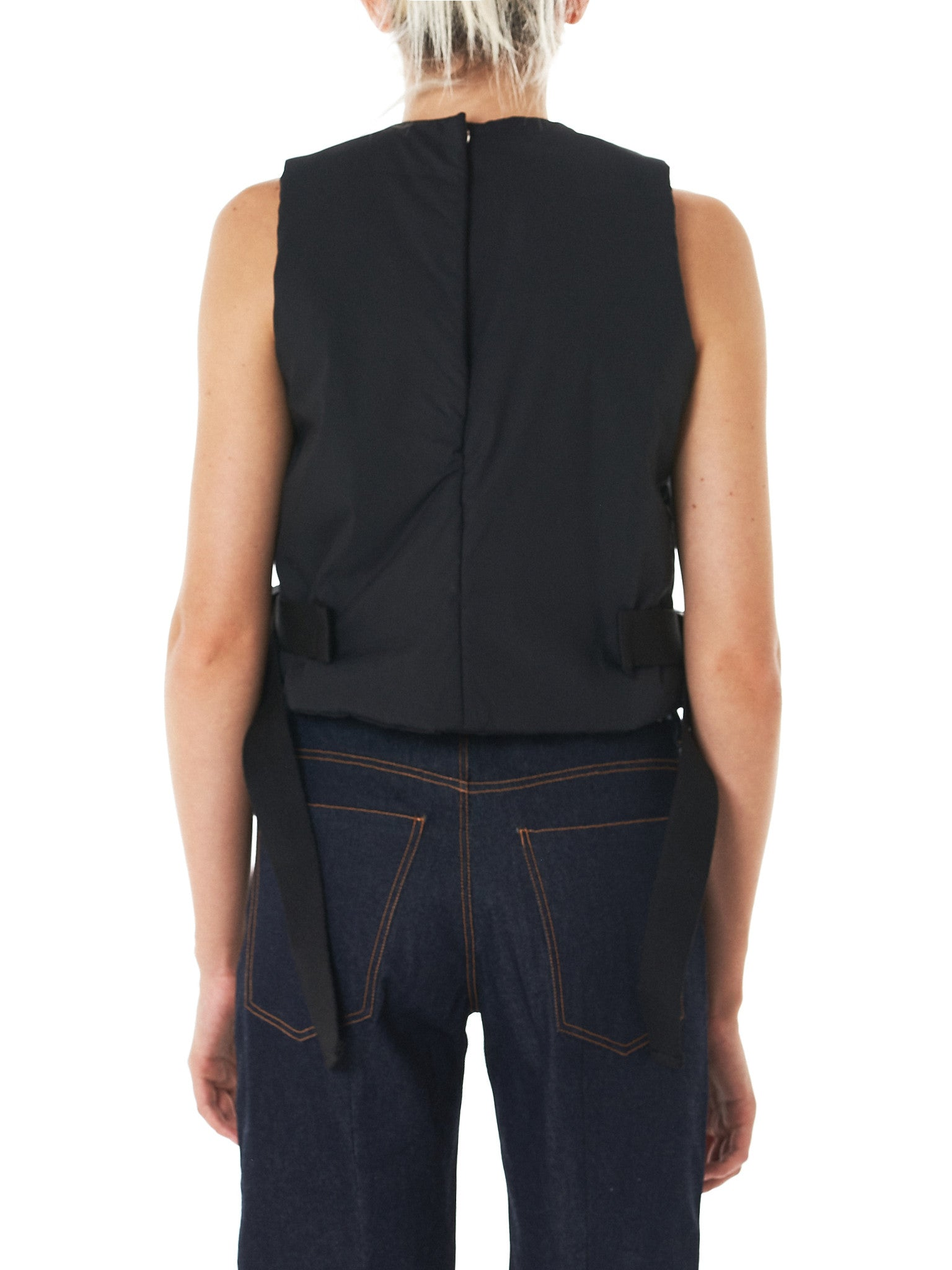 Padded Cotton Vest (17FW-3-BLACK)