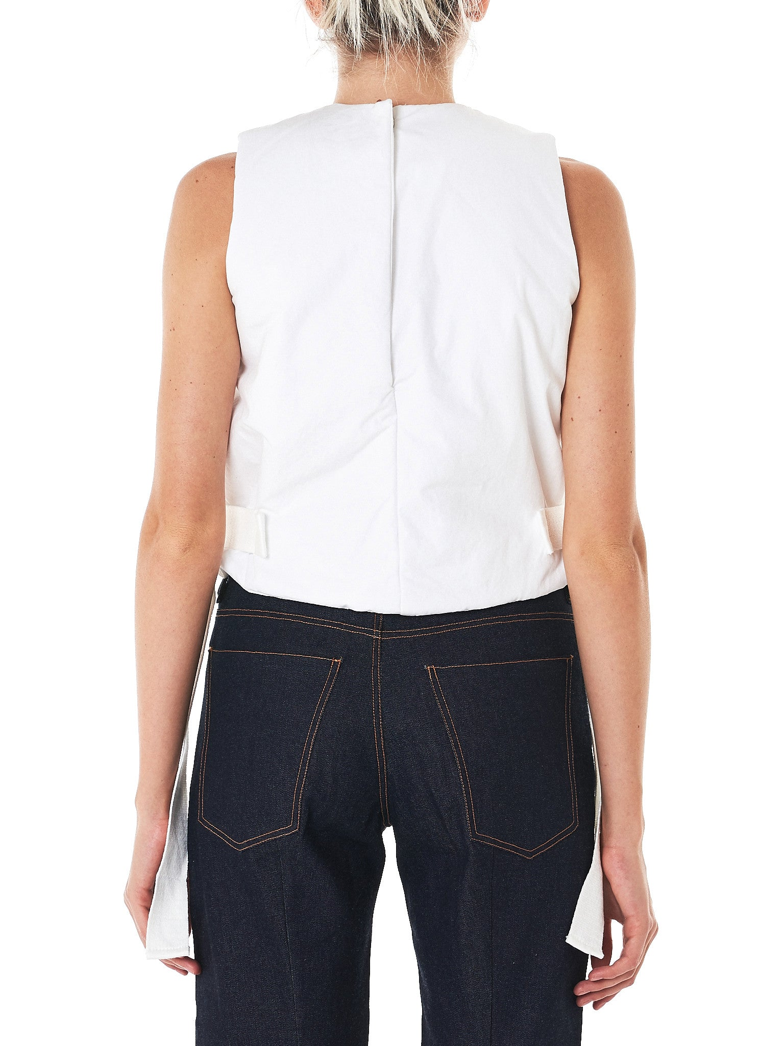 Padded Cotton Vest (17FW-3-WHITE)