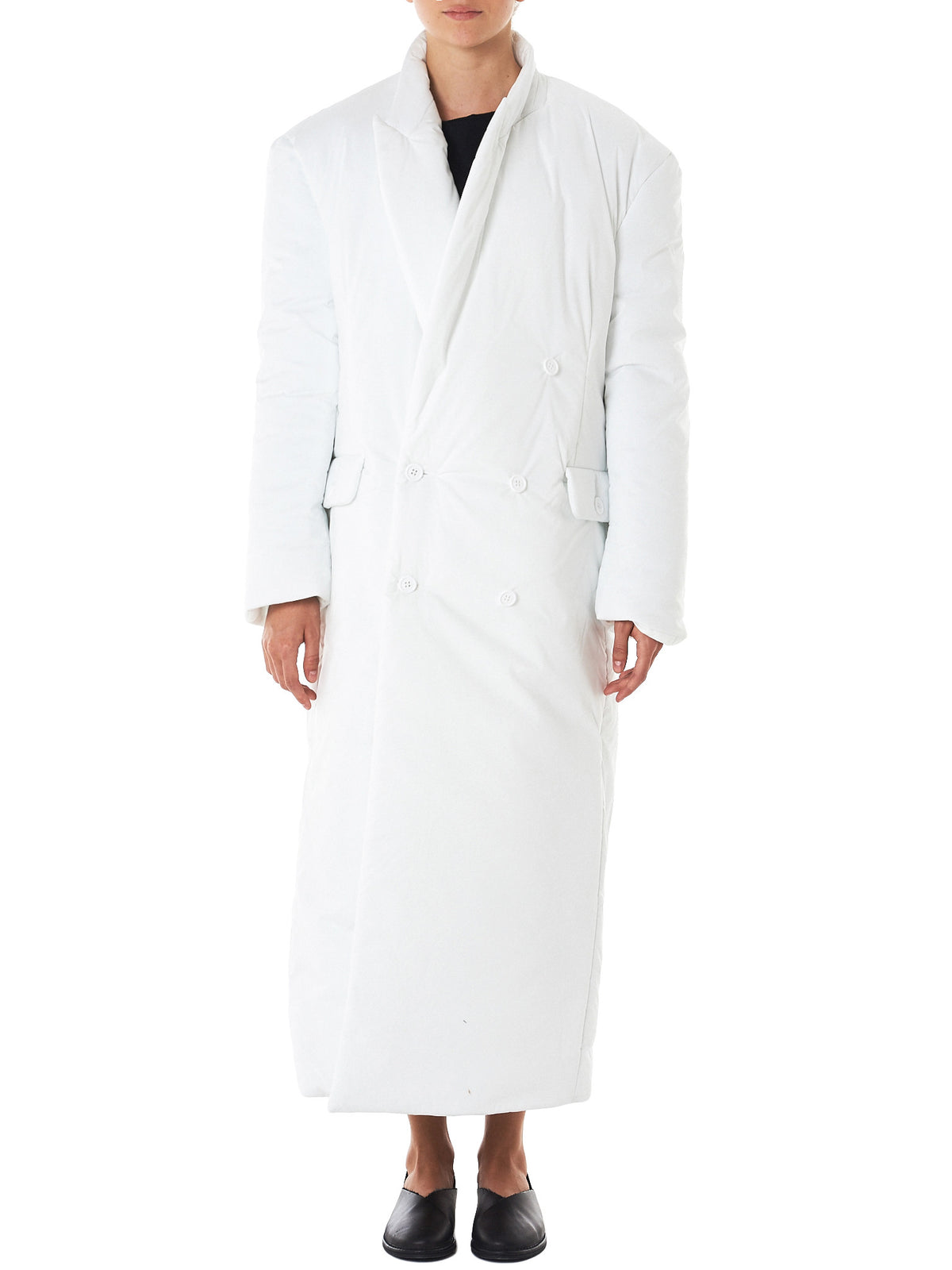Double-Breasted Overcoat (17FW-37-WHITE)