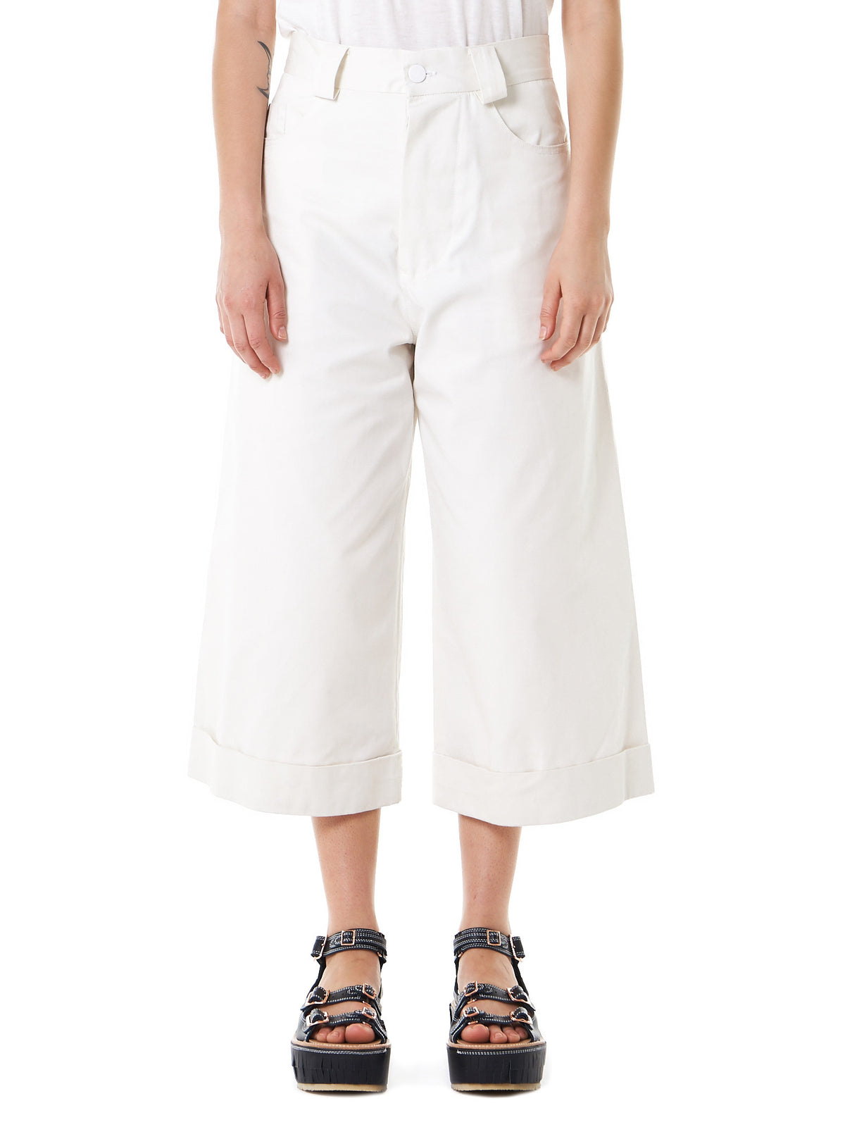 Bell-Bottom Cropped Jeans (17SS-13 COTTON DENIM NATURAL) - H. Lorenzo