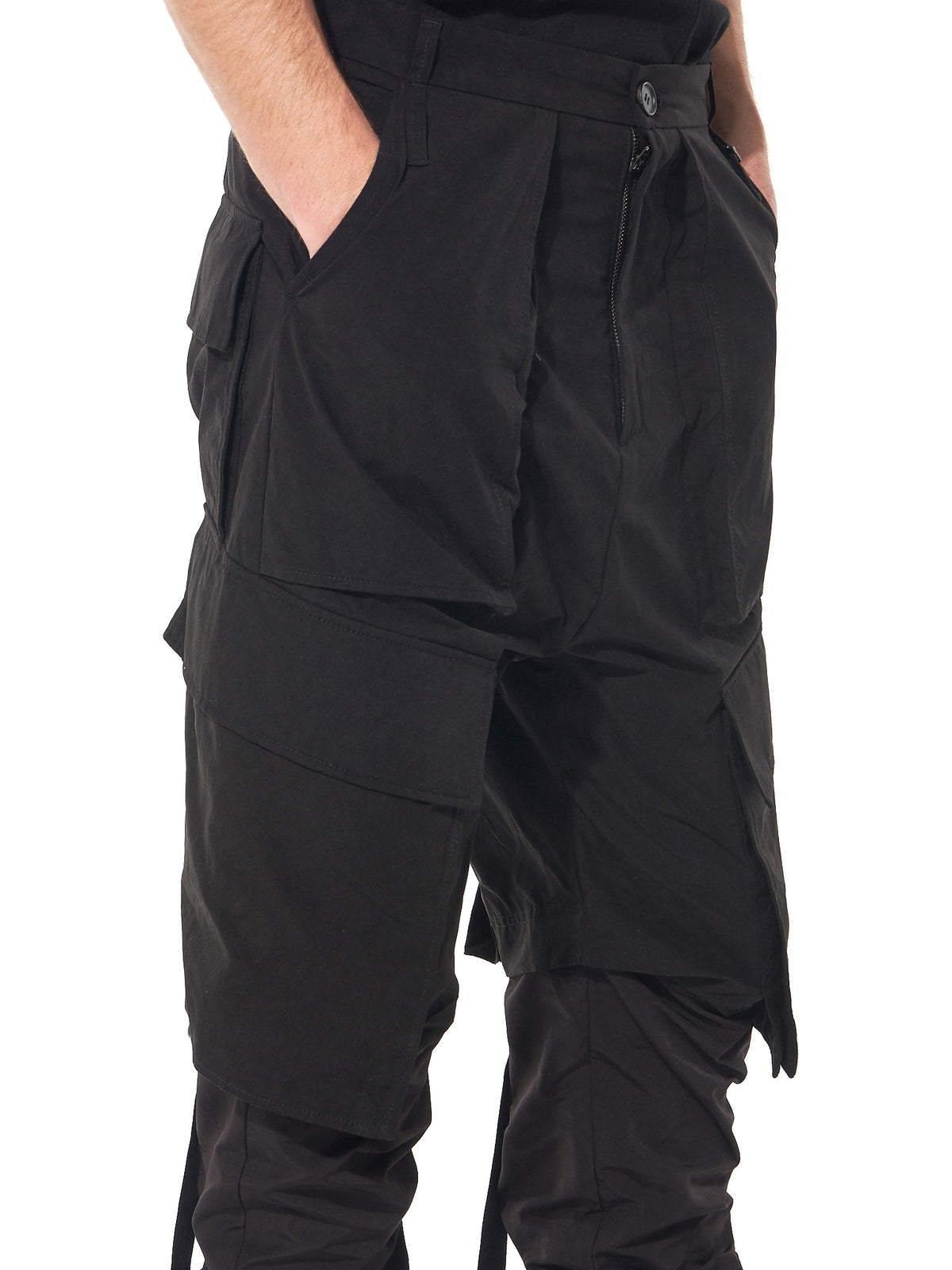 Patchwork Trousers  (17SSBMTR-01 BLACK) - H. Lorenzo