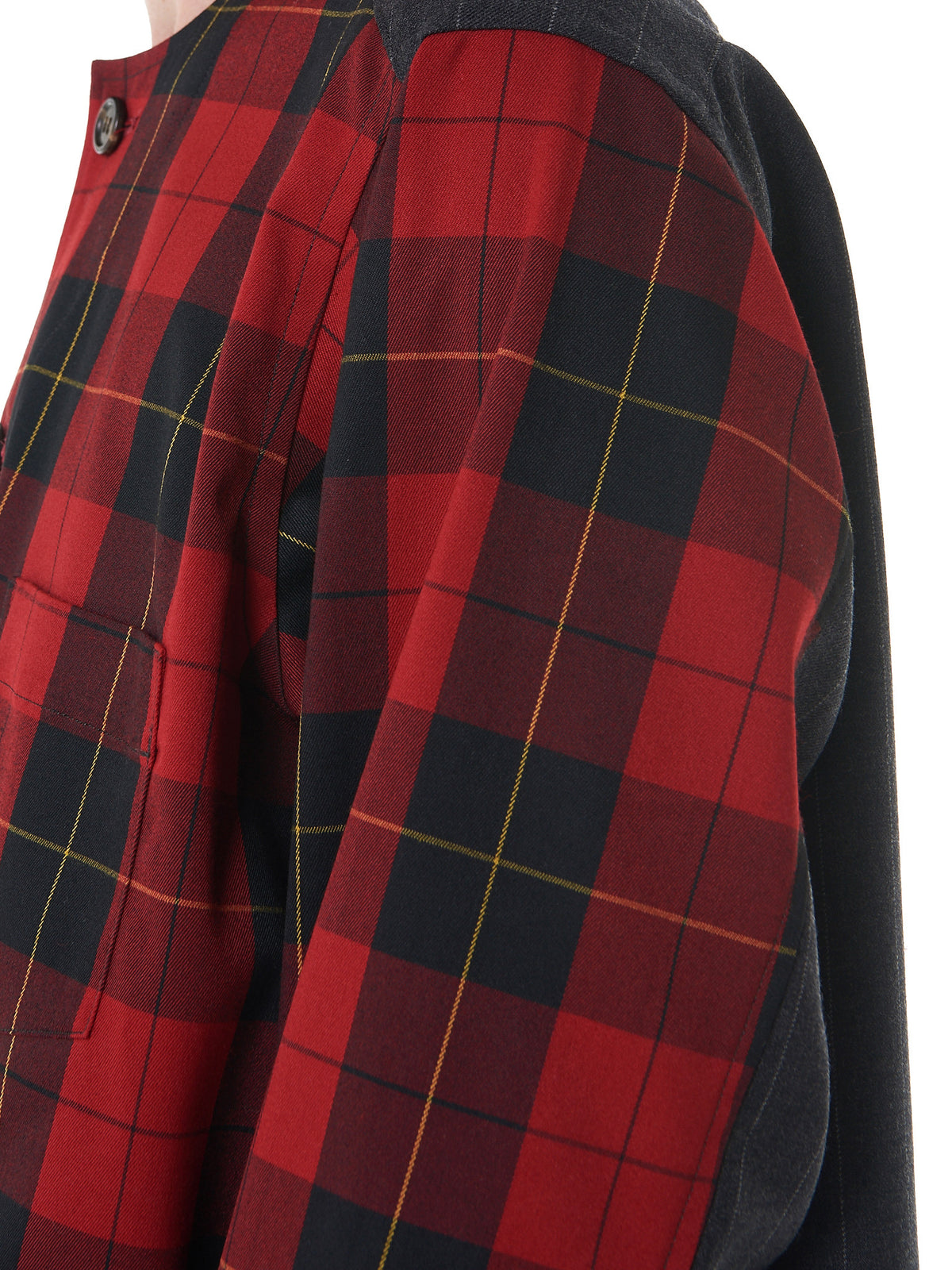 Checkered Button-Down (17TMJ12003-RED-CHARCOAL) - H. Lorenzo